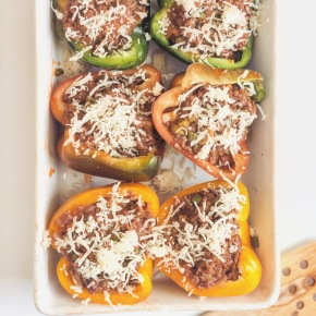 Stuffed Rainbow Peppers